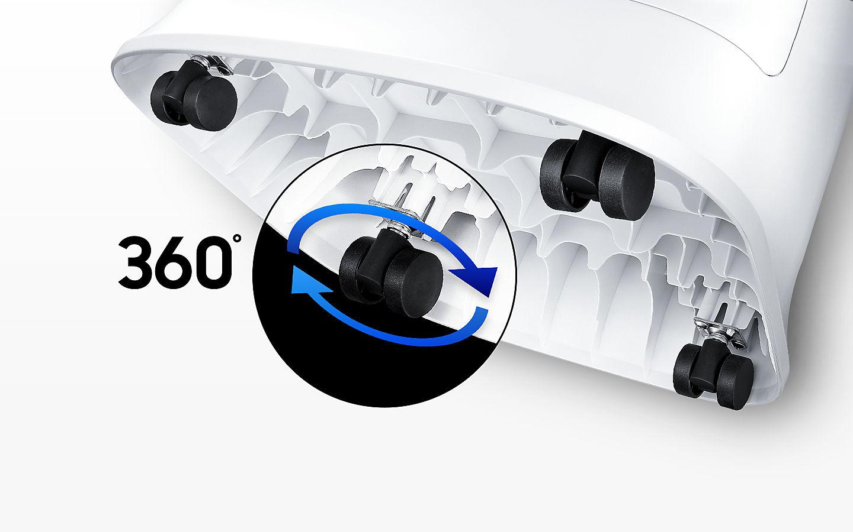 سهولت در جابجایی دستگاه تصفیه هوا سامسونگ مدل AC-C60
